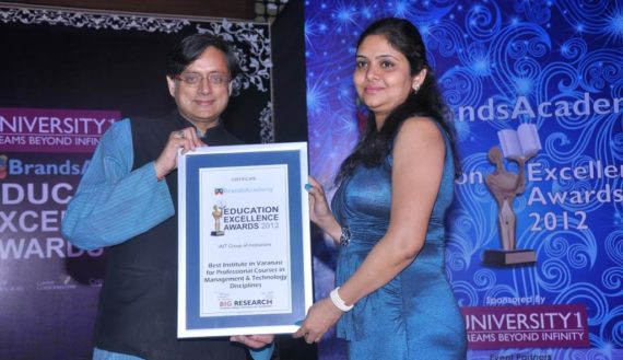 Awarded as best Institute of Varanasi 2012 in Brand Academy