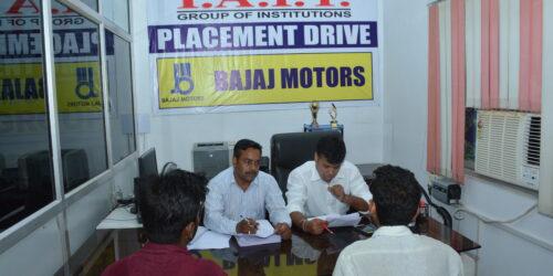 Interview in Bajaj Motors