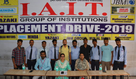 selected students in 2019 session -I
