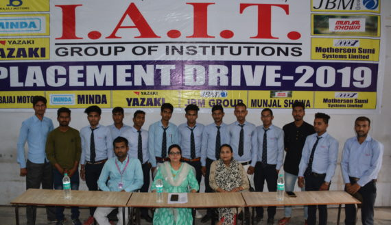 selected students in 2019 session-III